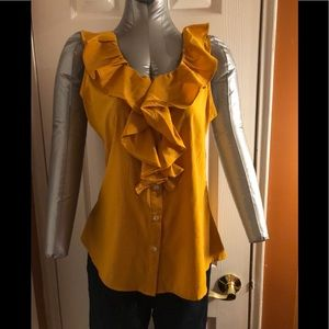 Banana Republic sleeveless ruffle shirt